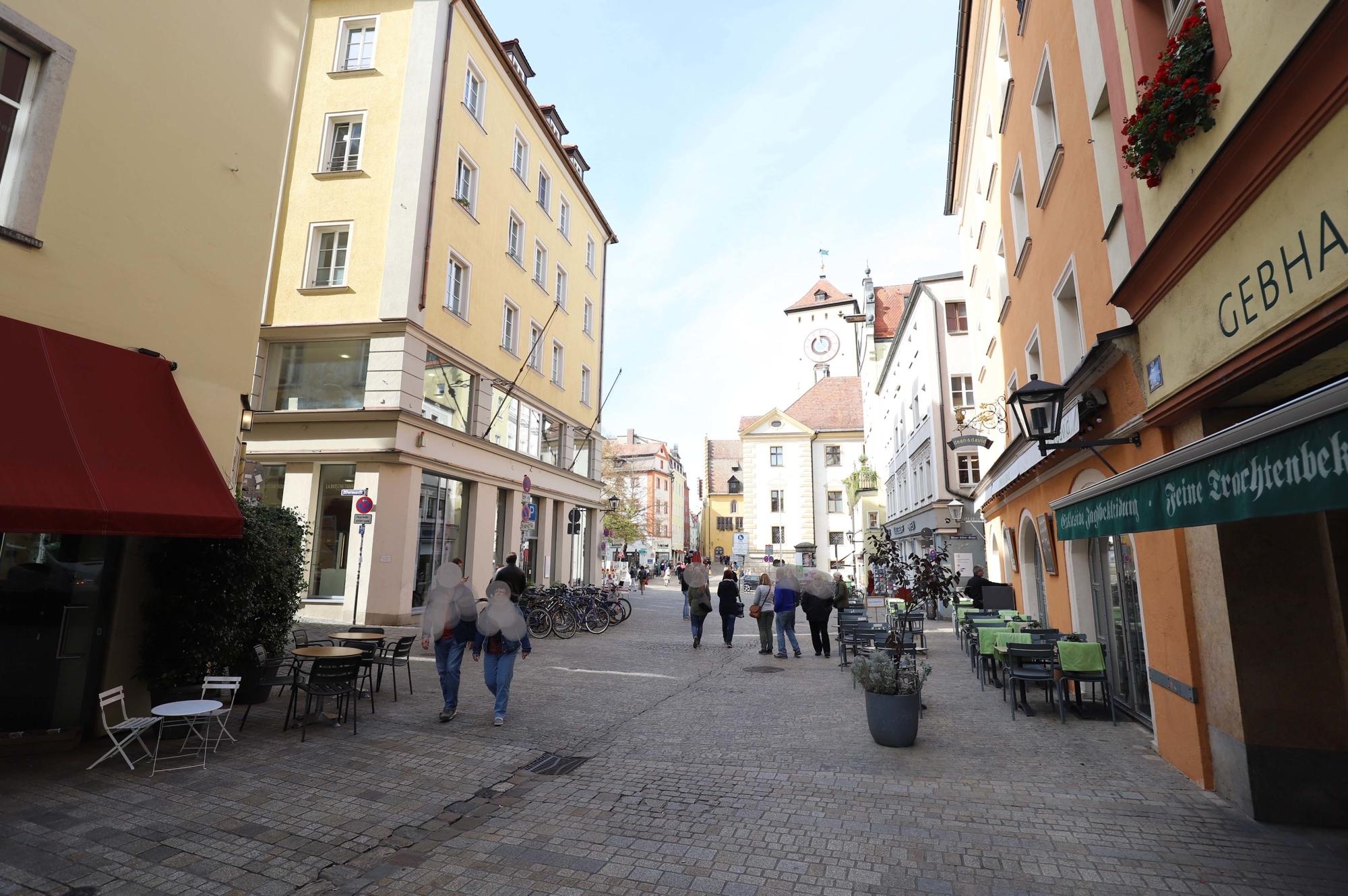 Blick Richtung Kohlenmarkt und Rathaus