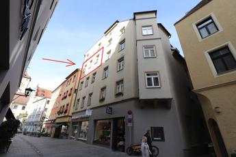 Wohnzimmer- und Küchenfenster zur Goliathstraße