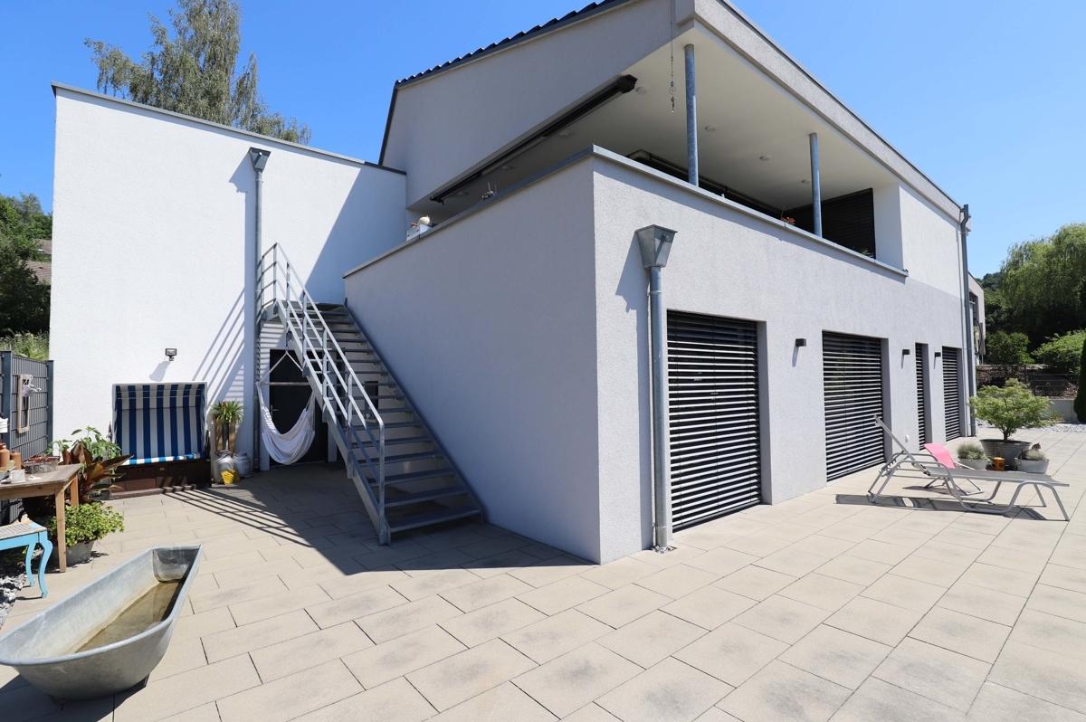 Zugang vom Wohngeschoss zum Garten