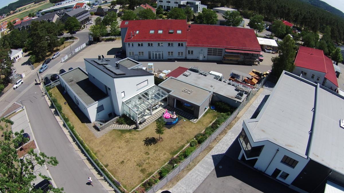 Luftbild von Westen