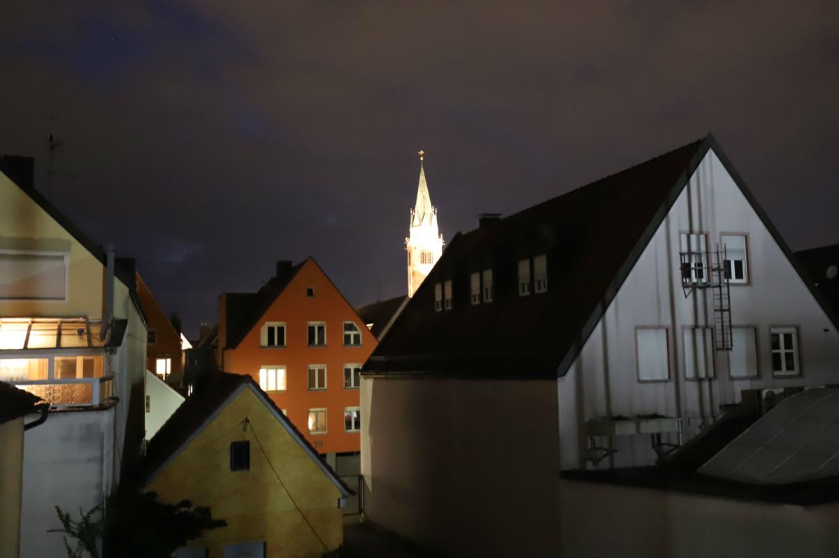 Blick auf die Johanneskirche