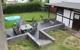 Neu angelegte Terrasseanlage