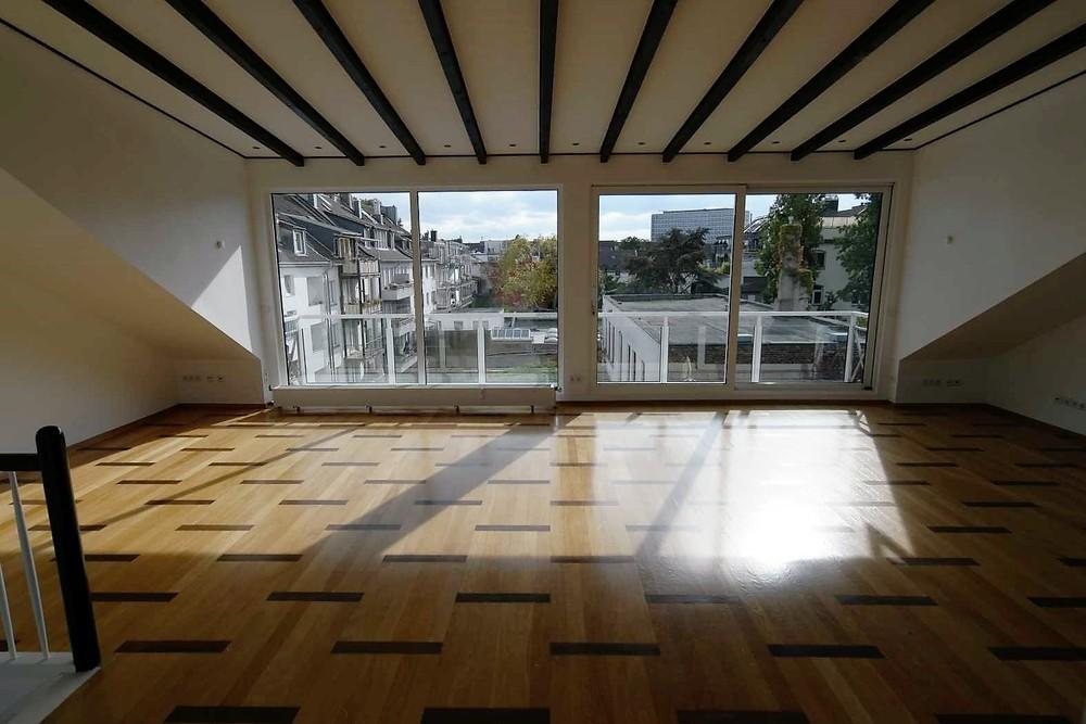 Wohnzimmer mit Schiebeanlage