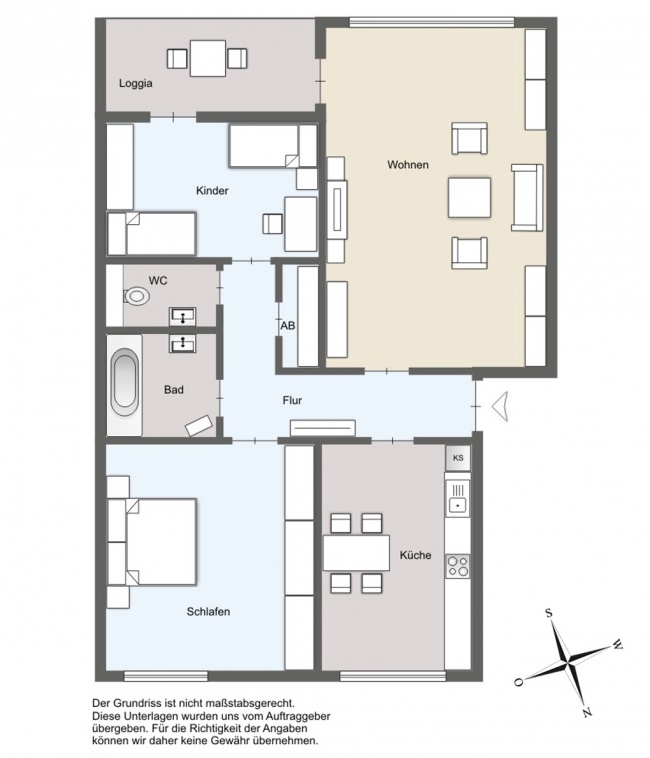Grundriss der Eigentumswohnung