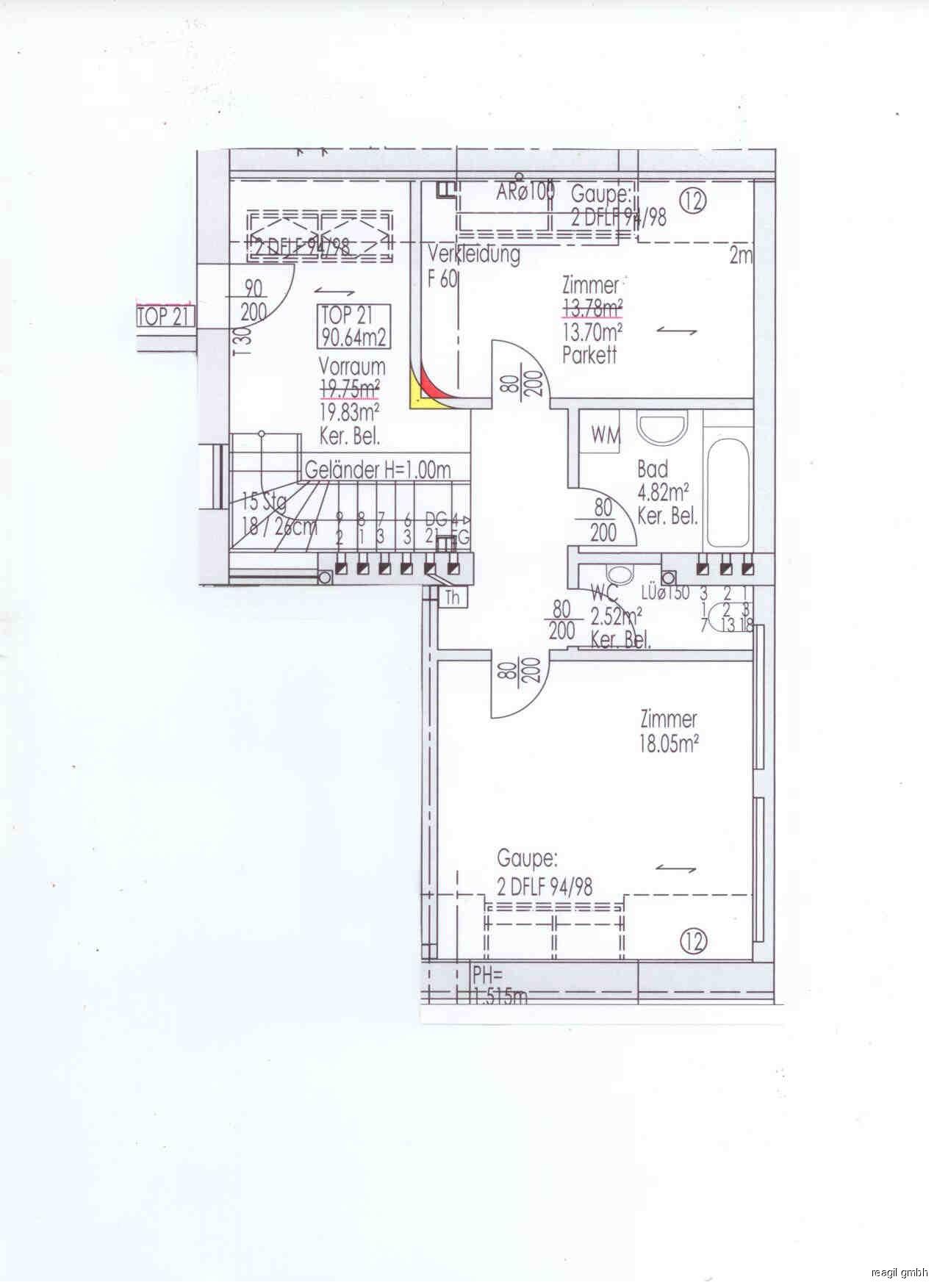 Plan Top 21 1.Ebene