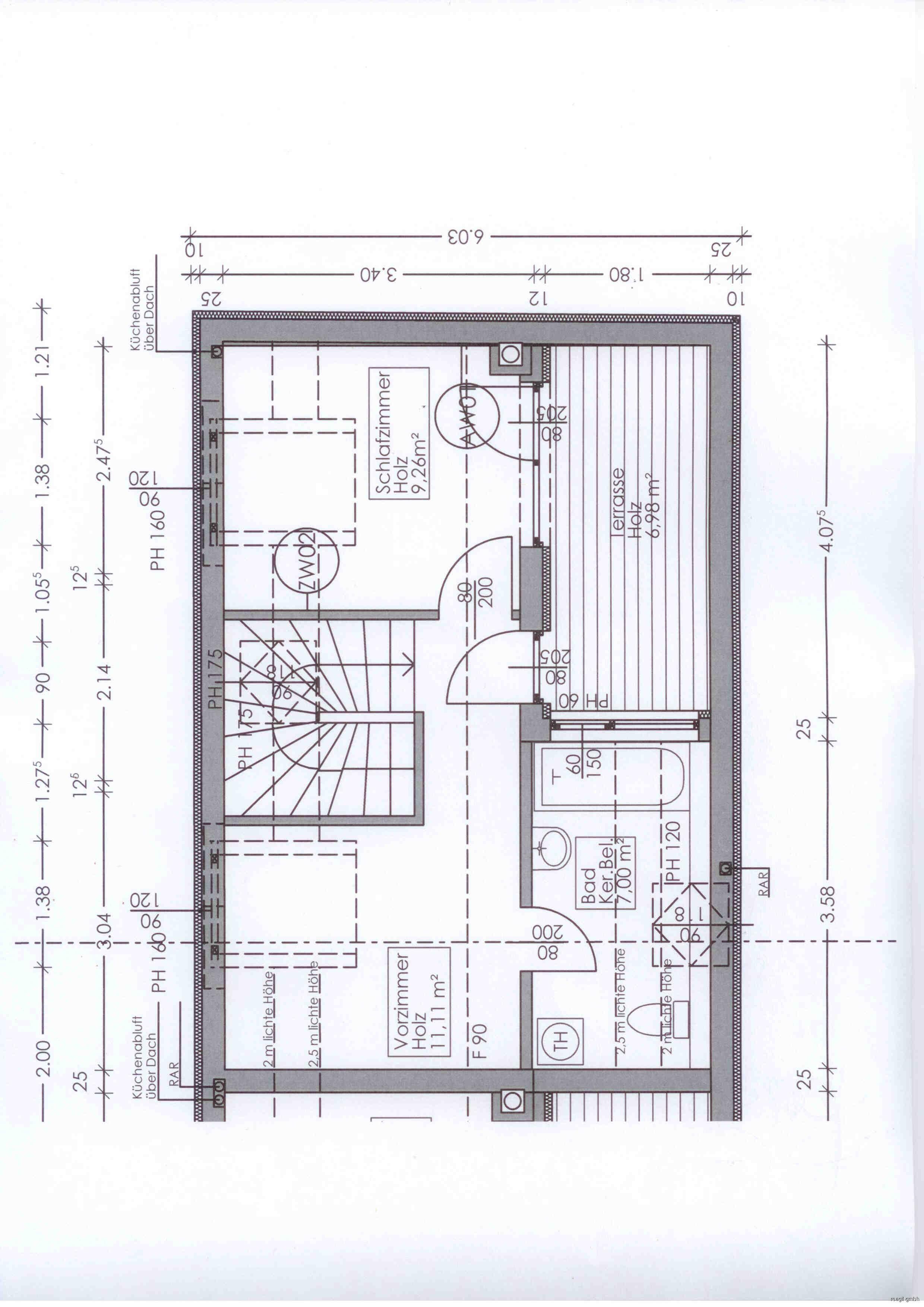 Plan Dachgeschoß Top 17