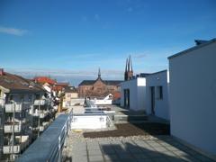 Blick von Dachterrasse richtung Johanneskirche