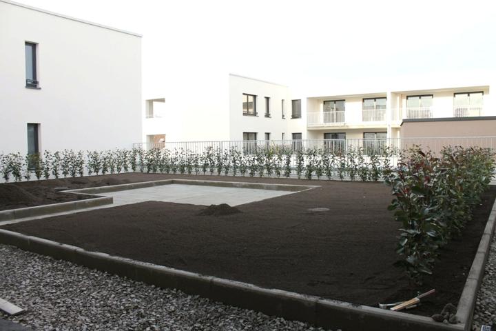 Terrassengarten für die Mieter
