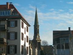 Blick zur Christuskirche