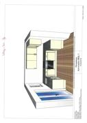 Küchenansicht Grundriss Whg. Nr. 3 002