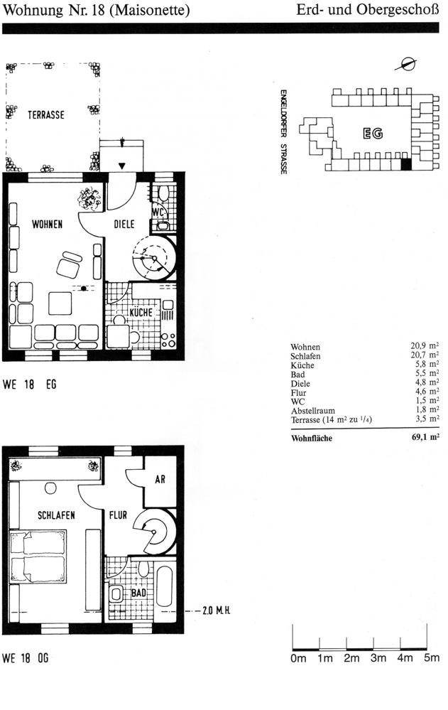 Grundriss+Wohnflächenberechnung
