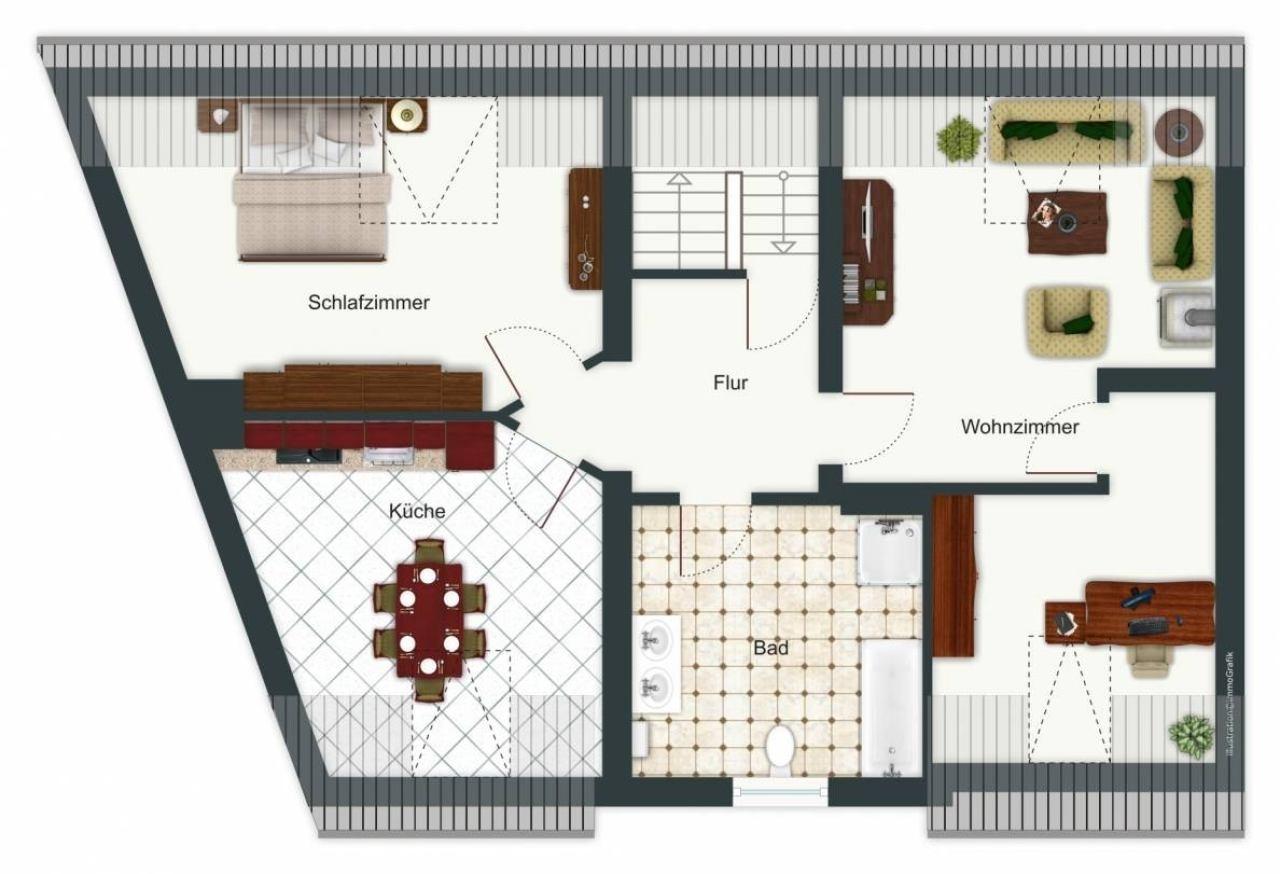 Grundriss DG-Wohnung