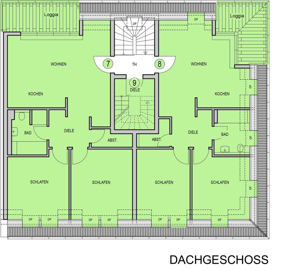 Birkenallee 16a - Dachgeschoss_grün