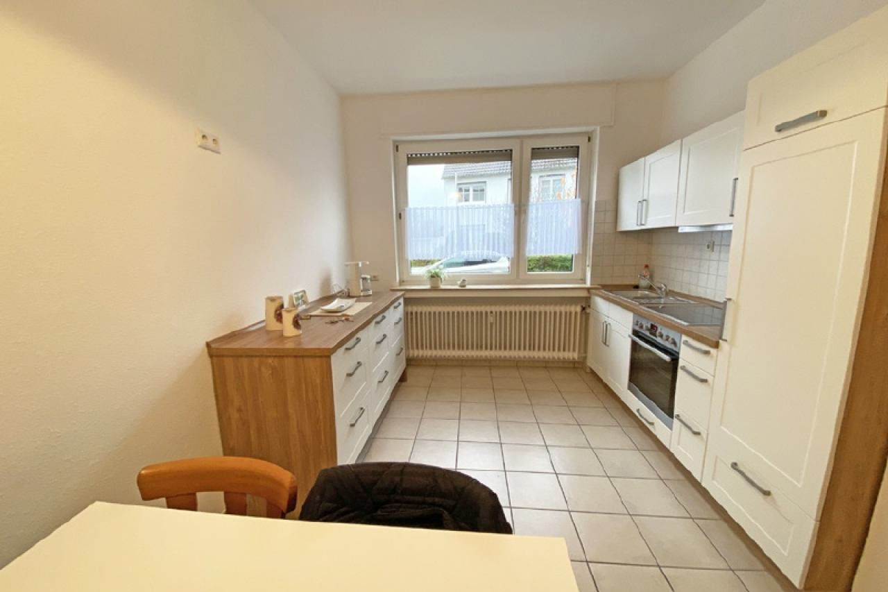 Küche einer EG-Wohnung