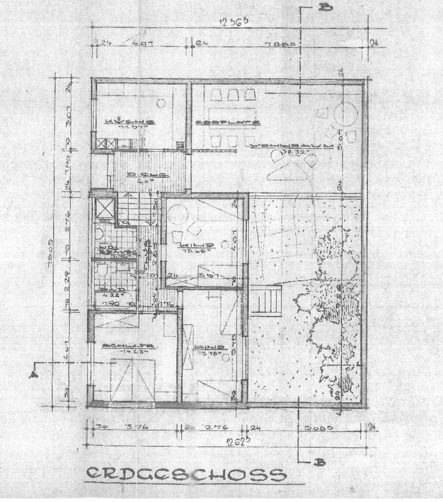 Grundriss Erdgeschoss  und  oberes Split-Level