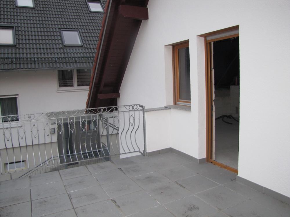 Der Balkon im OG