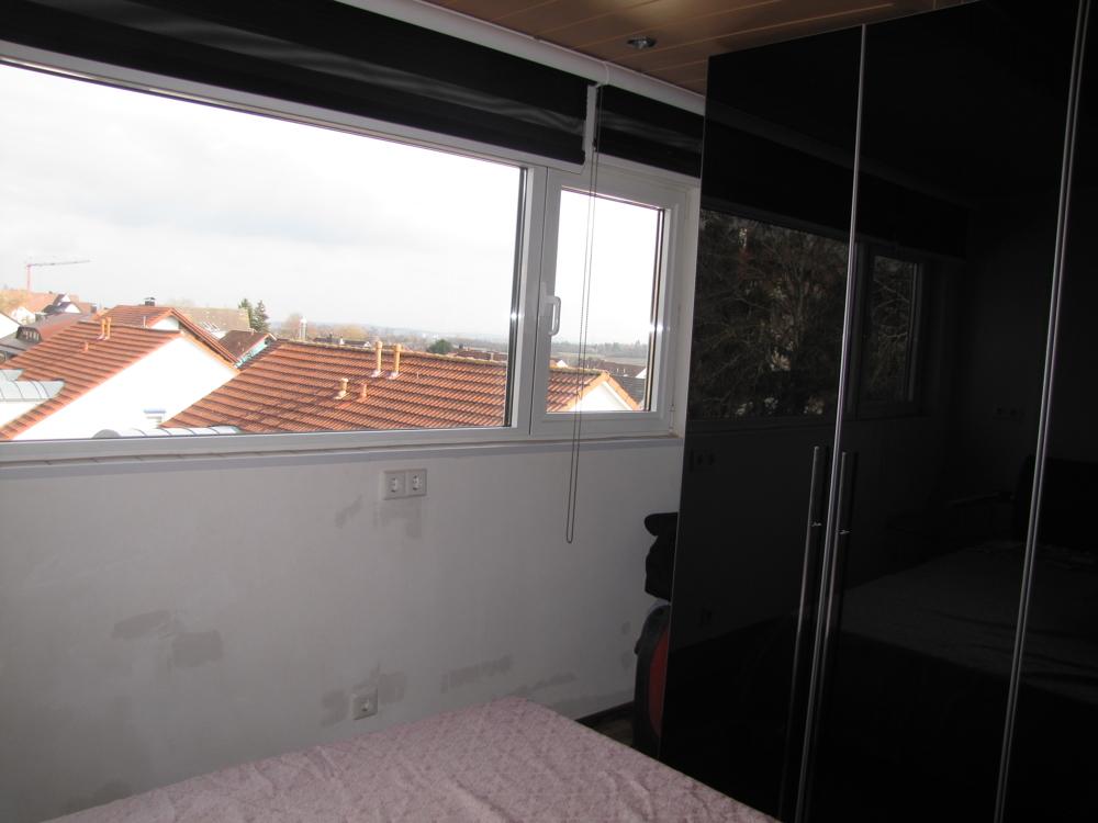 Das Schlafzimmer mit XXL-Fenstern
