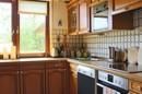Praktische eingerichtete Küche