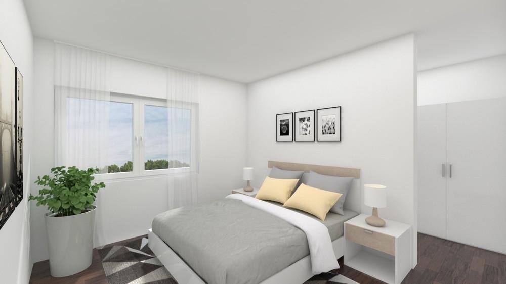 Großes Schlafzimmer mit Ankleidebereich (Wohnbeispiel)