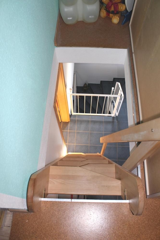 Spitzboden - Treppe