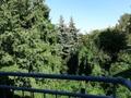 Ausblick vom Balkon im Wohnzimmer