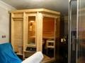 Sauna mit Dampfdusche