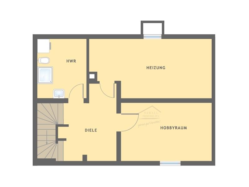 Kellergeschoss eines Hauses