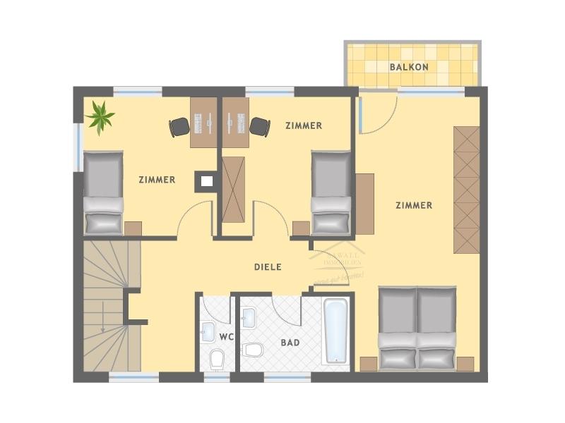 Obergeschoss eines Hauses