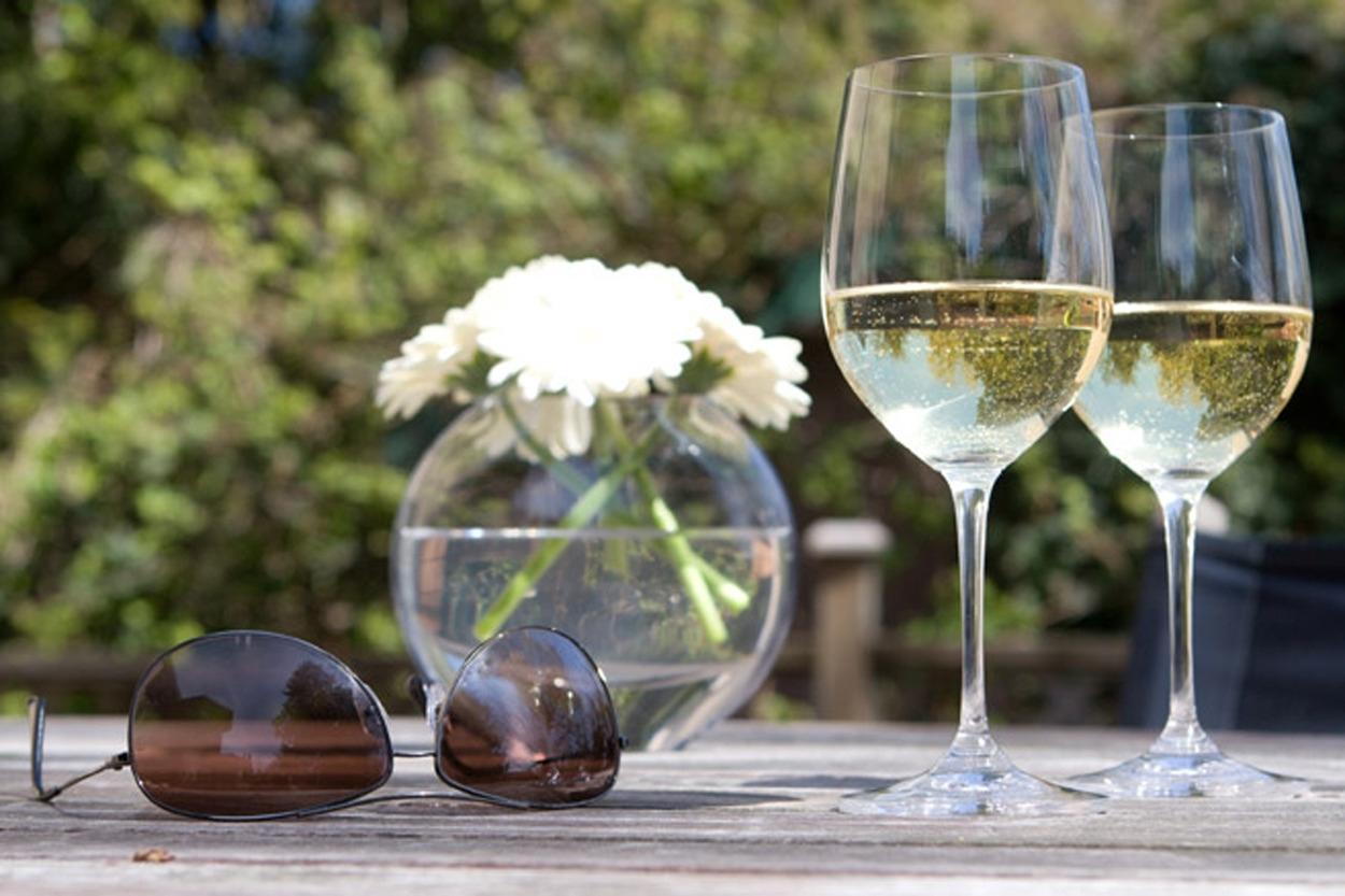Gläser mit Blumen Bild rechts klein