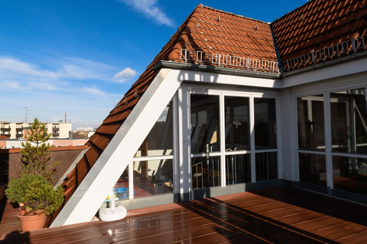 Dachterrasse und Gemeinschaftsbereich