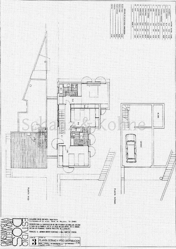 Plan erste Etage