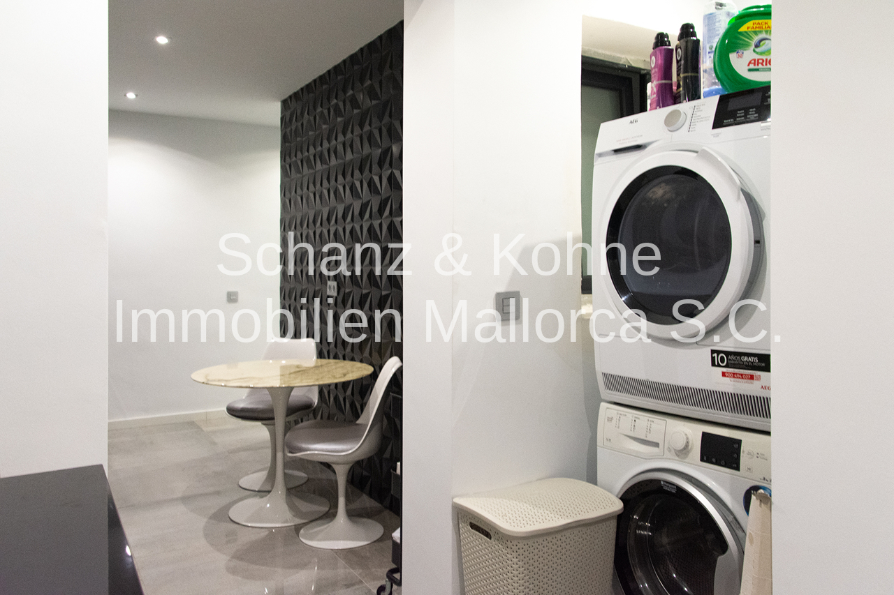 Küche und Waschraum