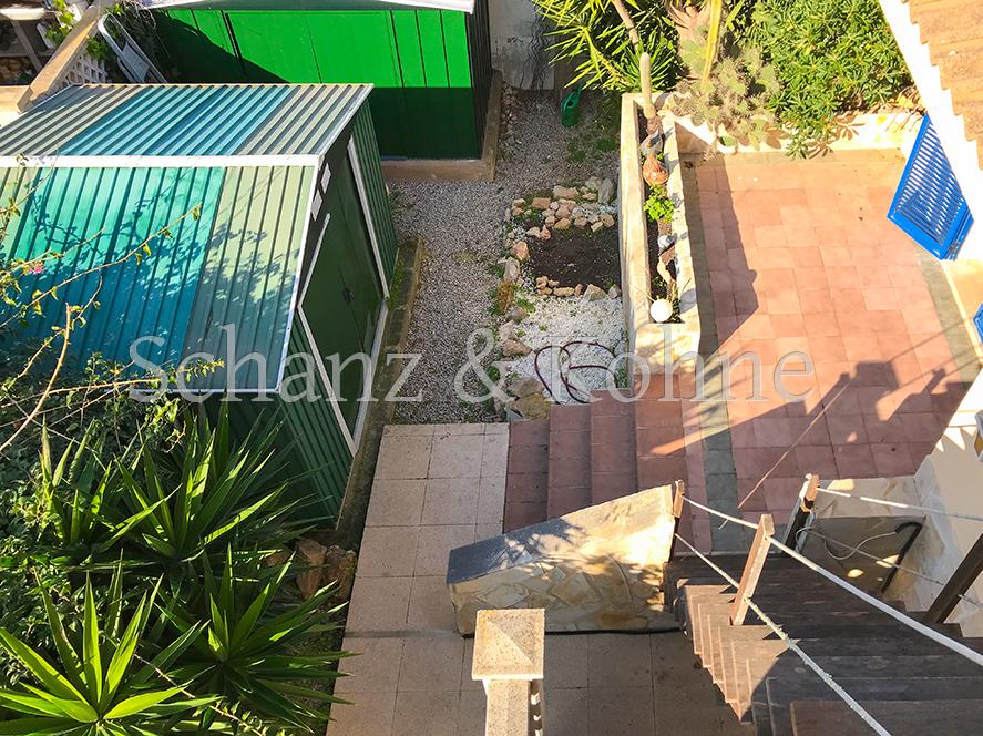 Gartenhäuser + Terrasse