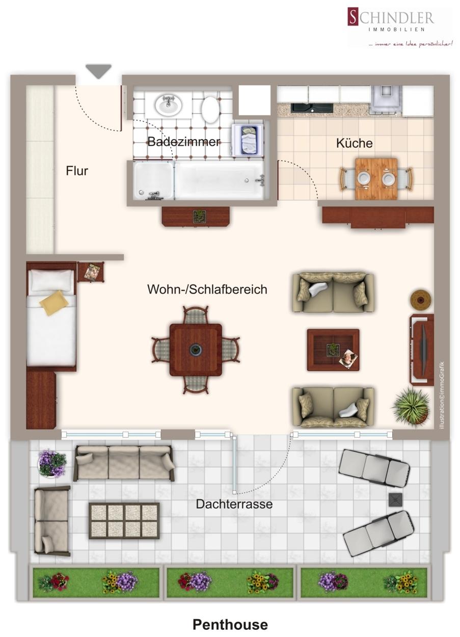 Grundriss Penthouse