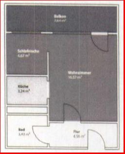 Grundriss 1-Raum Ma