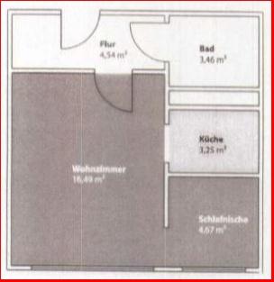 Grundriss 1-Raum