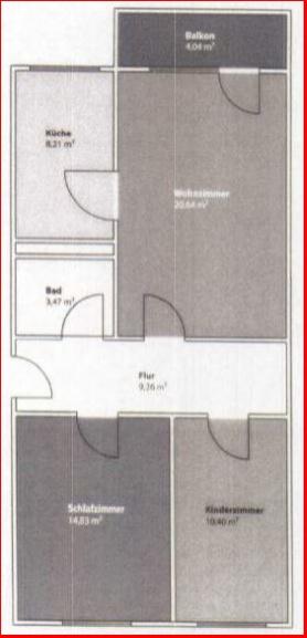 Grundriss 3-Raum