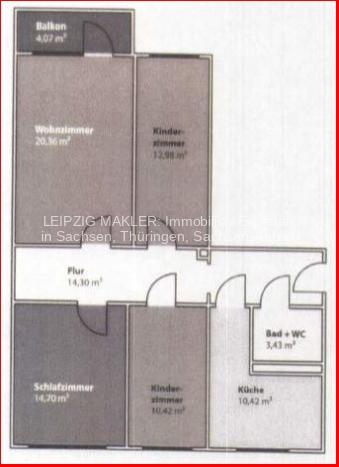 Grundriss 4-Raum