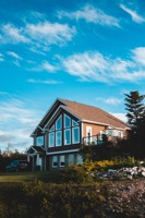 Einfamilienhaus mit Garten Musterfoto