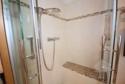 Gemauerter Sitz in der Dusche