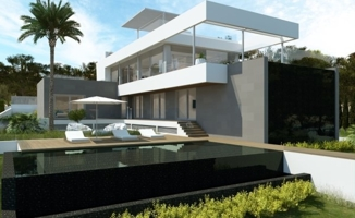 Villa minimalista con vistas al mar