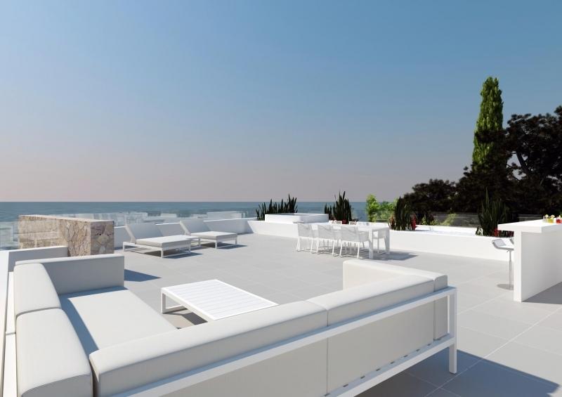 Luxus Villa 1. Line über Felsenküste