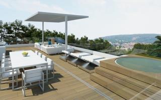 New consruction villa with minimalistic design