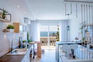 Modern penthouse studio with sea views for sale