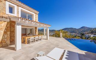 Beach house Villa with sea and harbor views