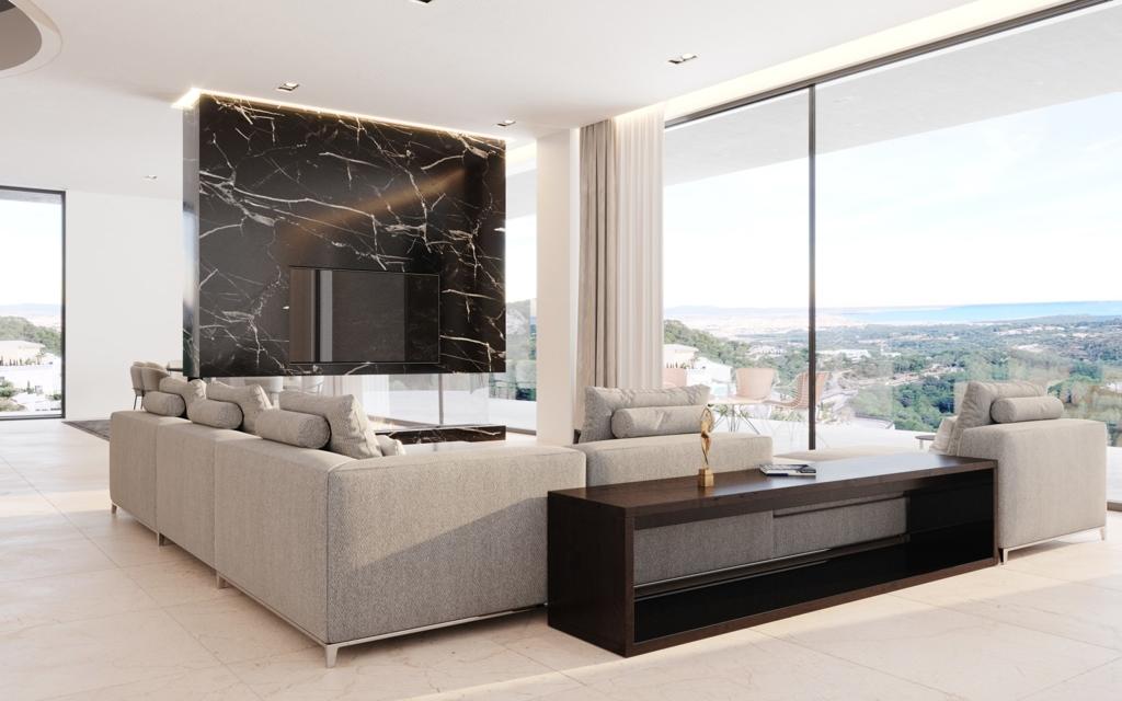 Wohnzimmer Meerblick
