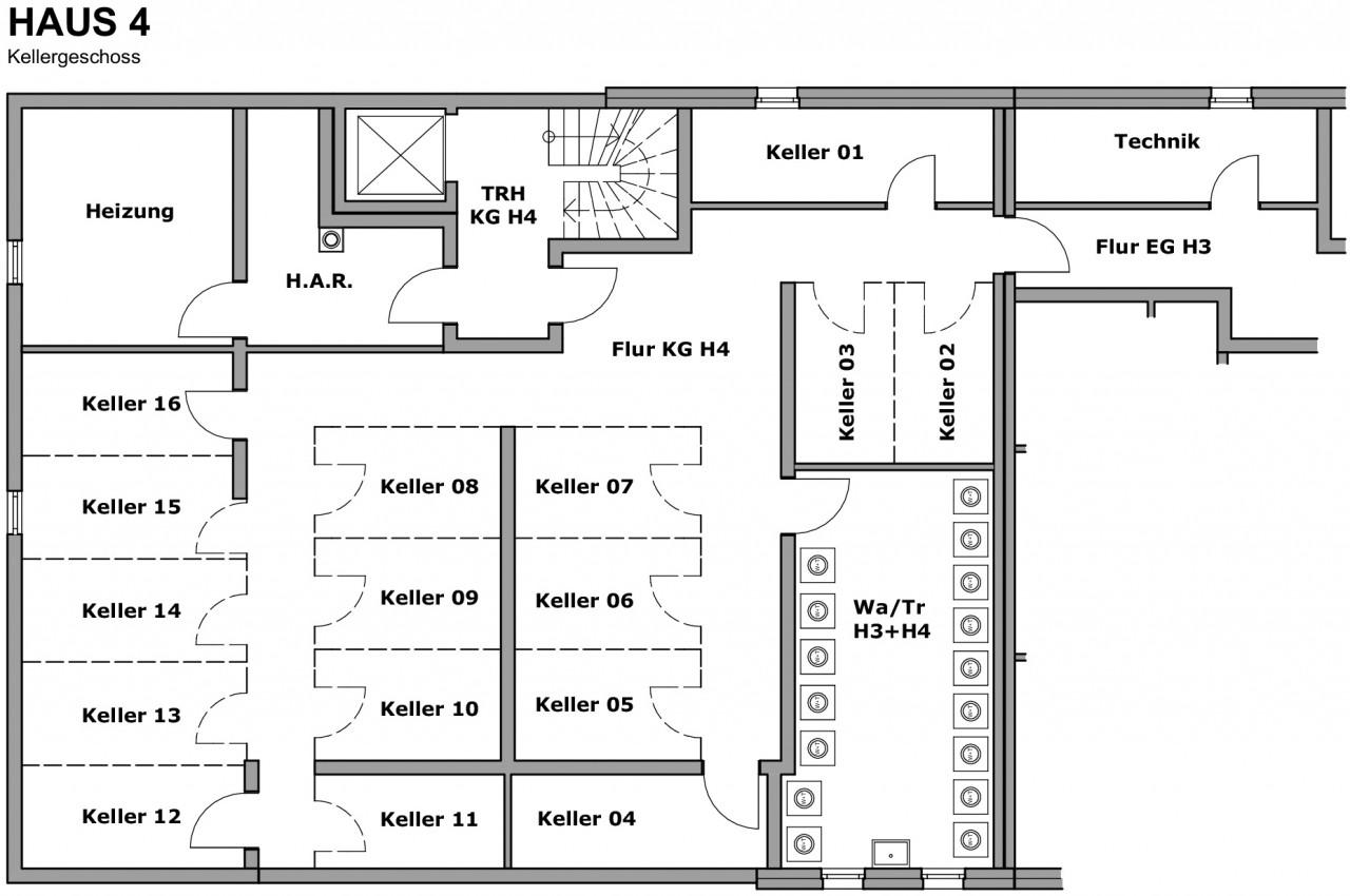 Kellergeschoss Haus 4