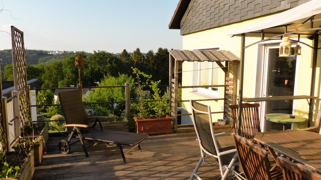 Terrasse mit Fernsicht