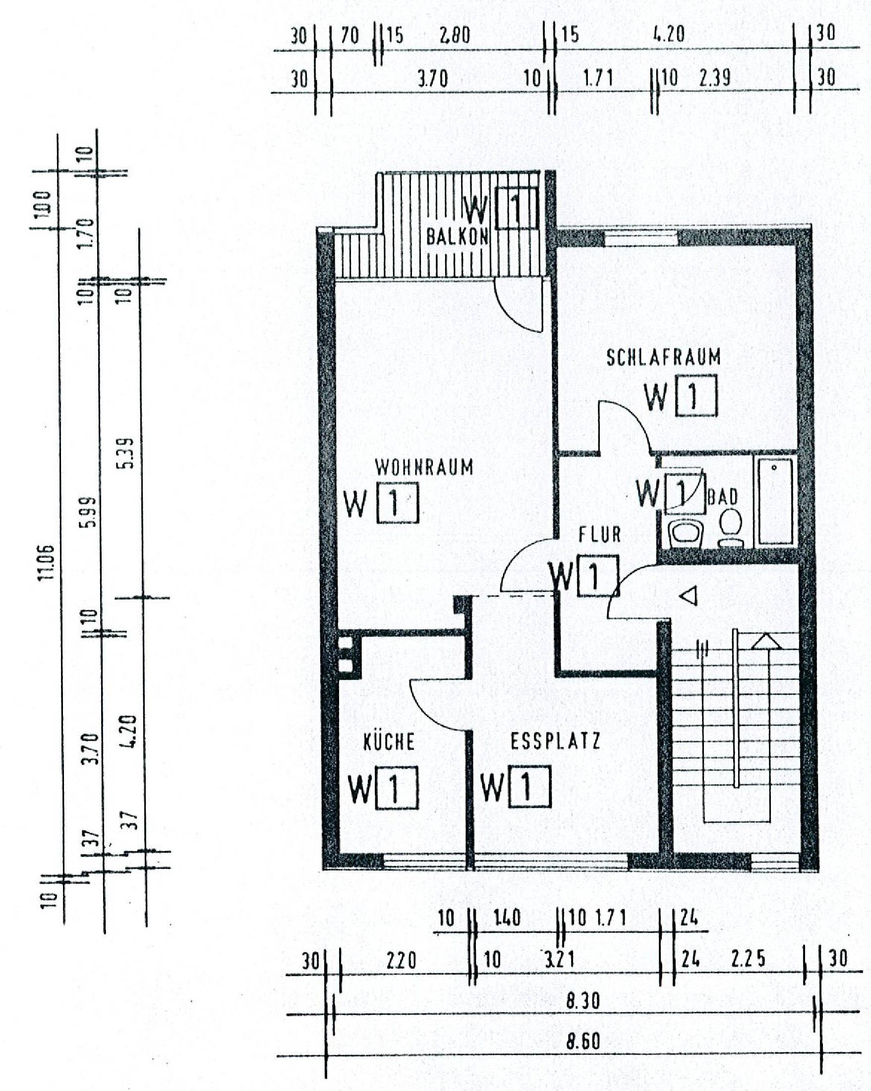 Wohnung 2. Obergeschoss