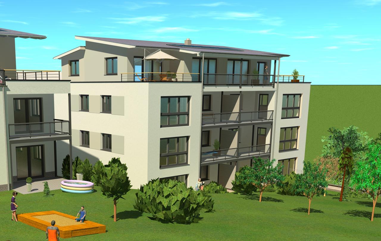 Moderne Neubau-Mietwohnung mit Weitblick